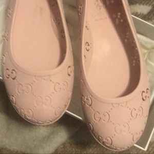 Worn once Gucci ballet jelly shoes